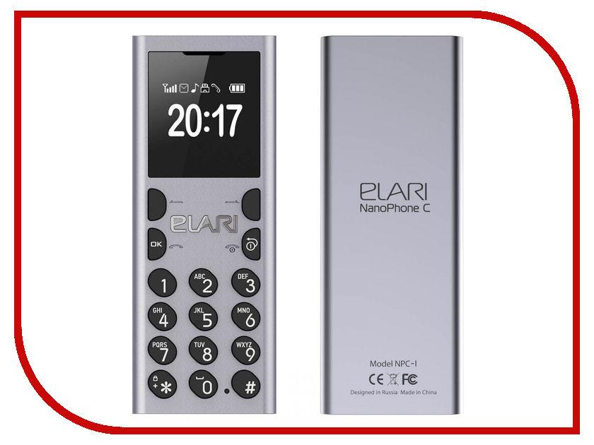 Сотовый телефон Elari NanoPhone C Silver аксессуар чехол elari для elari cardphone и iphone 6 plus blue