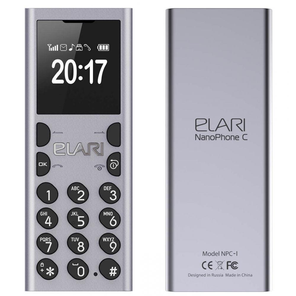 Сотовый телефон Elari NanoPhone C Silver onkyo c 7000r silver