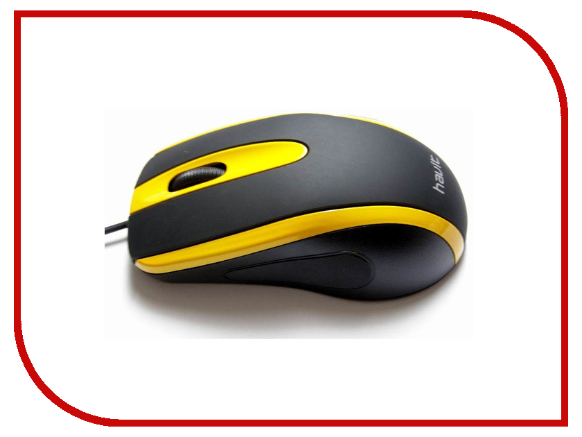 Мышь Havit HV-MS753 USB Black-Yellow стоимость