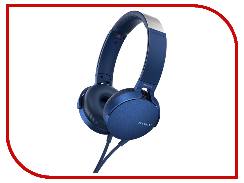 Sony MDR-XB550AP Blue наушники sony mdr xb550ap black