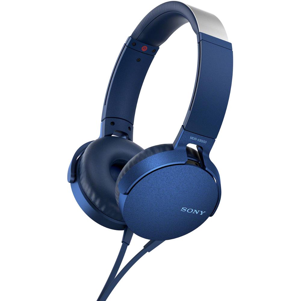 цена Sony MDR-XB550AP Blue онлайн в 2017 году