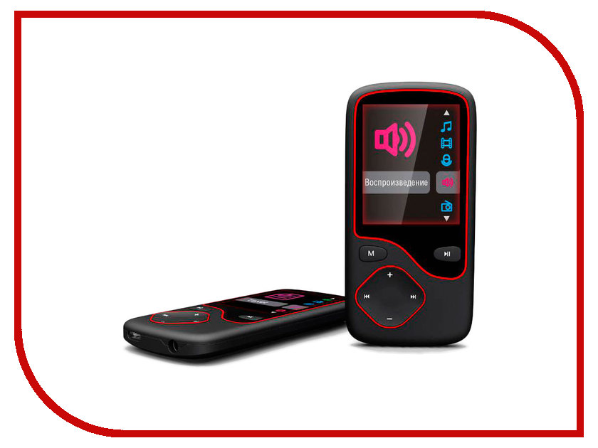 Плеер Digma Cyber 3L 4Gb Black-Red mp3 плеер digma c2l