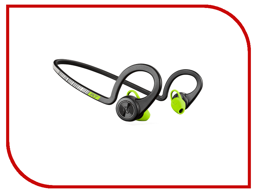 Plantronics BackBeat Fit Black-Green 206005-05 plantronics backbeat pro 2 207110 05