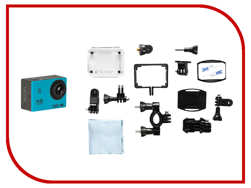 Экшн-камера SJCAM SJ4000 Light Blue sjcam sj5000 plus black экшн камера