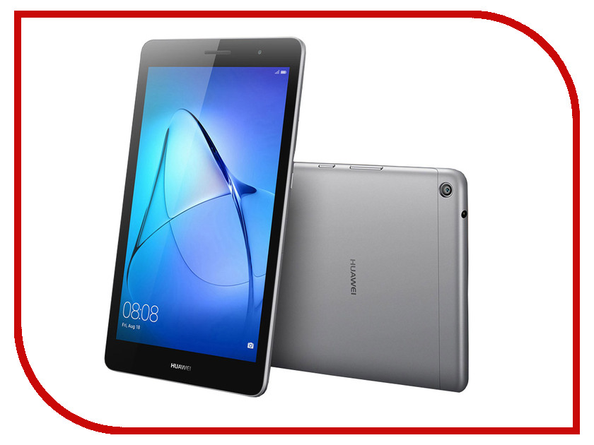 Планшет Huawei MediaPad T3 8 LTE 16Gb KOB-L09 Grey 53018493 (Qualcomm Snapdragon MSM8917 1.4 GHz/2048Mb/16Gb/LTE/3G/Wi-Fi/Cam/8.0/1280x800/Android) планшет lenovo yoga tablet yt3 850m za0b0044ru qualcomm msm8909 1 3 ghz 2048mb 16gb 3g lte wi fi cam 8 0 1280x800 android