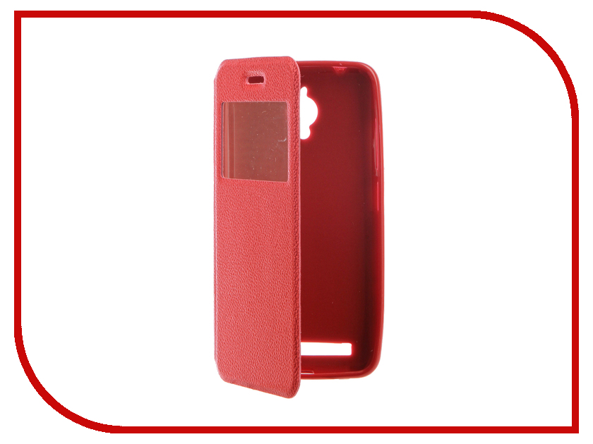 Аксессуар Чехол ASUSZenFone Go ZC500TG Gecko Book Red G-BOOK-AS-ZC500TG-RED аксессуар чехол накладка samusng galaxy j2 prime caseguru liquid 87804