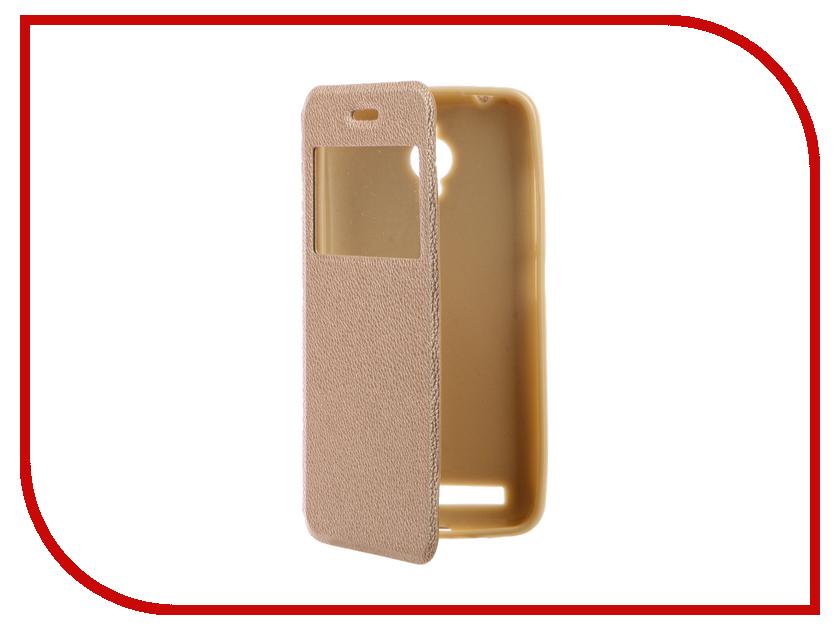 Аксессуар Чехол ASUS ZenFone Go ZC500TG Gecko Book Gold G-BOOK-AS-ZC500TG-GOLD