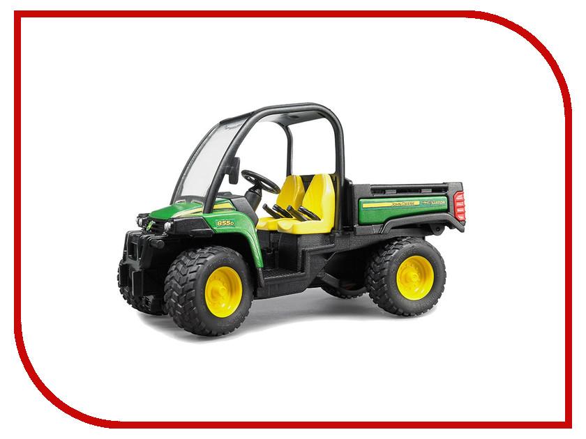 Игрушка Bruder John Deere Gator XUV 855D 02-491 siku трактор john deere с пресс подборщиком