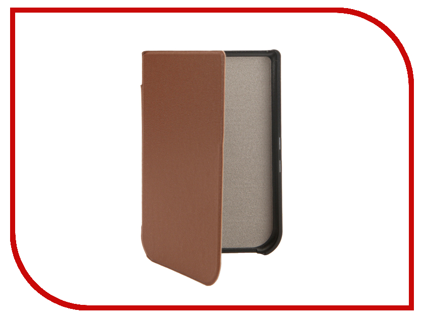 Аксессуар Чехол for Pocketbook 631 TehnoRim Slim Brown TR-PB631-SL01BR аксессуар чехол for pocketbook 626 tehnorim origami black tr pb626 or01bl