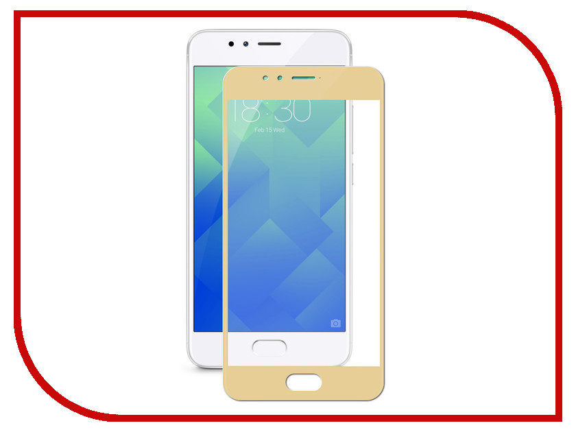 Аксессуар Защитное стекло Meizu M5 Gecko 2D FullScreen 0.26mm Gold ZS26-GMEIMM5-2D-GOLD аксессуар защитное стекло sony xa1 gecko full screen 0 26mm 2d black zs26 gsonyxa1 2d bl
