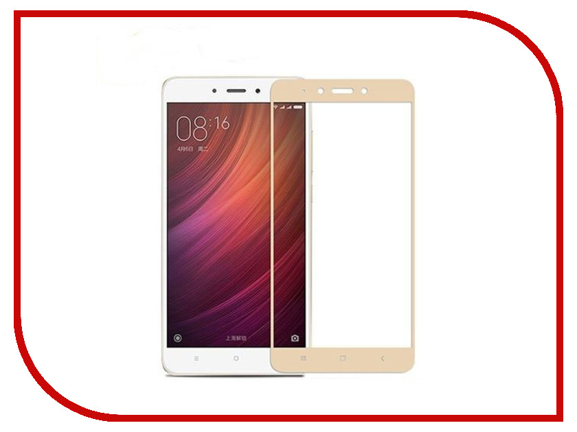 Аксессуар Защитное стекло Xiaomi Redmi 3 / 3x / 3s / 3 Pro 5-inch Gecko 2D FullScreen 0.26mm Gold ZS26-GXMRE3-2D-GOLD highscreen аккумулятор для easy s easy s pro 2200 mah