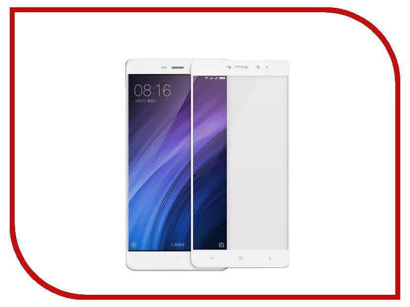 Аксессуар Защитное стекло Xiaomi Redmi 4 Gecko 2D FullScreen 0.26mm White ZS26-GXM4-2D-WH