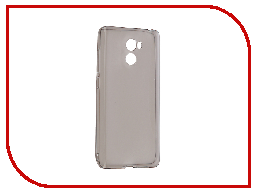 Аксессуар Чехол Xiaomi Redmi 4/4s Gecko Transparent-Glossy Black S-G-XIR4PRO-BL чехол для xiaomi redmi 4 4 pro gecko flip case черный