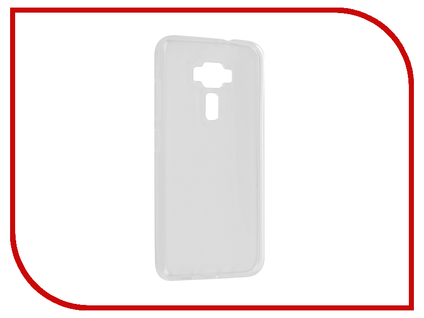 Аксессуар Чехол ASUS ZenFone 3 ZE520KL Gecko Transparent-Glossy White S-G-ASZ3-520KL-WH аксессуар чехол накладка asus zenfone c zc451cg gecko силиконовый transparent s g aszc451cg wh