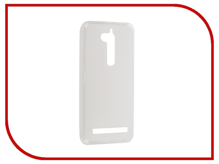 Аксессуар Чехол ASUS ZenFone Go ZB500KL Gecko Transparent-Glossy White S-G-ASZCZB500KL-WH аксессуар чехол накладка asus zenfone c zc451cg gecko силиконовый transparent s g aszc451cg wh