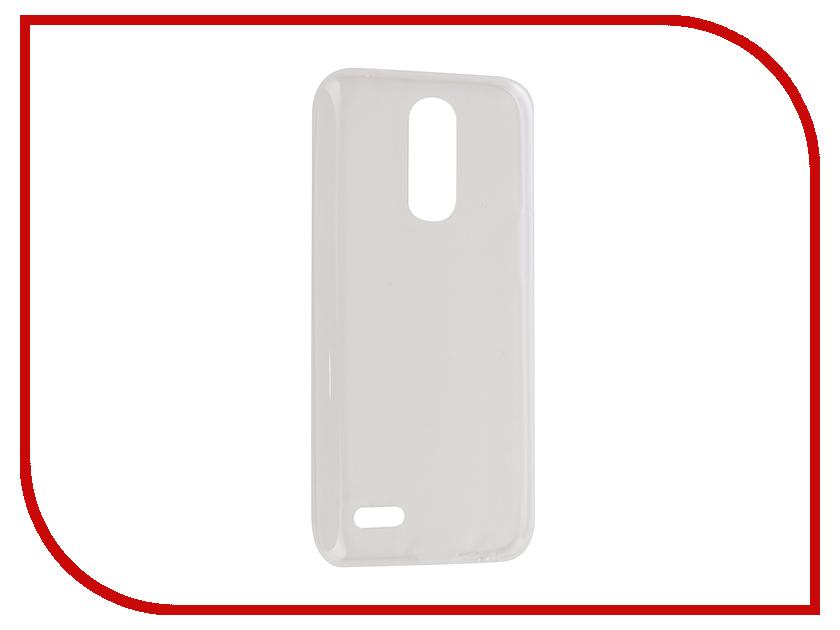 Аксессуар Чехол для LG K10 (2017) Gecko Transparent-Glossy White S-G-LGK10-2017-WH аксессуар чехол meizu m3s mini gecko white s g meim3smini wh