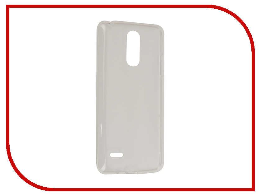 Аксессуар Чехол LG K8 (2017) Gecko Transparent-Glossy White S-G-LGK8-2017-WH аксессуар чехол nokia 230 230 dual sim gecko transparent glossy white s g nok230 wh
