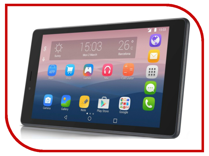 Планшет Alcatel 9003X PIXI 4 Smoky Grey (MediaTek MTK8321 1.3 GHz/1024Mb/8Gb/GPS/3G/Wi-Fi/Bluetooth/Cam/7.0/1024x600/Android) планшет bb mobile techno 10 1 3g tm056z black mediatek mt8312 1 3 ghz 1024mb 8gb wi fi 3g bluetooth gps webcam 10 1 1024x600 android