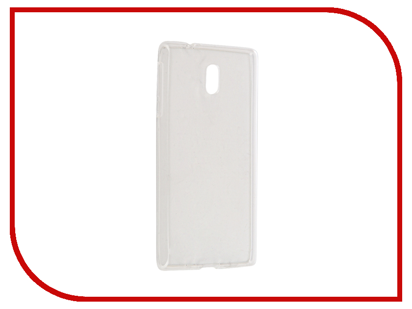 Аксессуар Чехол Nokia 3 Gecko Transparent-Glossy White S-G-NOK3-WH warranty 5 0 1ps for nokia lumia 640 display lcd touch screen display digitizer replacement parts free shipping with tools