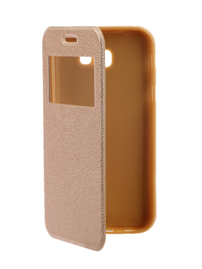 Аксессуар Чехол Gecko для Samsung Galaxy A7 2017 A720F Book Gold G-BOOK-SAMA7-2017-GOLD аксессуар чехол для samsung galaxy j7 j730 2017 gecko transparent glossy white s g sgj7 2017 wh