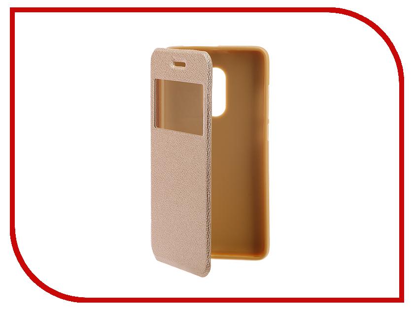 Аксессуар Чехол Xiaomi Redmi Note 4 Gecko Book Gold G-BOOK-XIAM-N4-GOLD аксессуар чехол xiaomi mi5s gecko book red g book xiam 5s red
