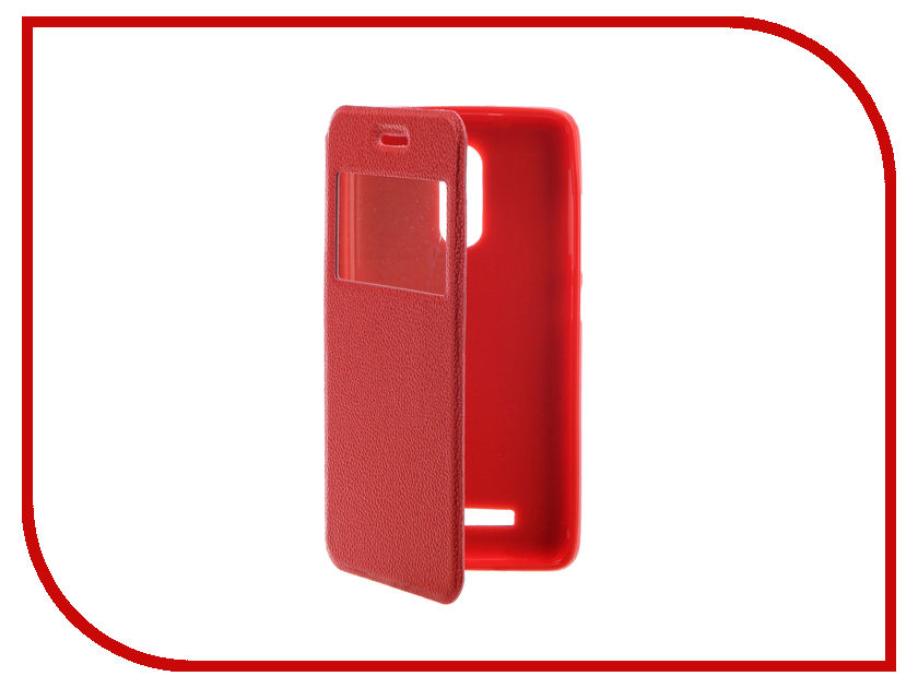 Аксессуар Чехол Xiaomi Redmi Note 3 Gecko Book Red G-BOOK-XIAM-N3-RED аксессуар чехол xiaomi mi5s gecko book red g book xiam 5s red