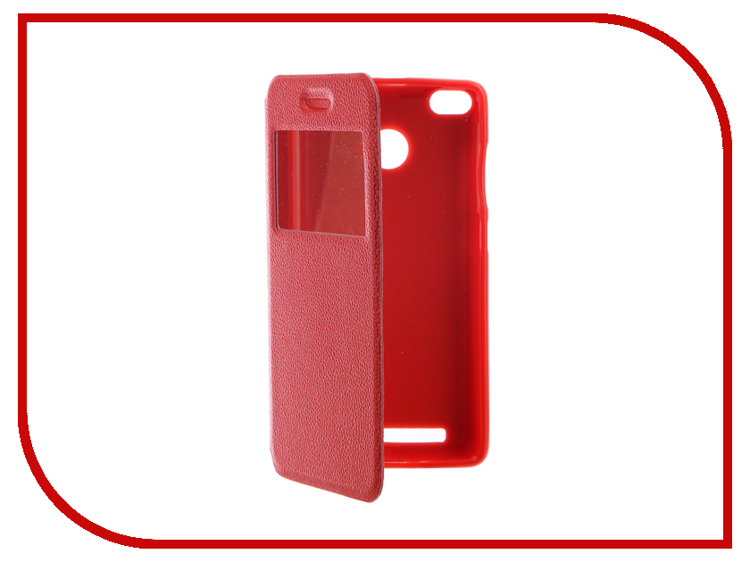 Аксессуар Чехол Xiaomi Redmi 3S Gecko Book Red G-BOOK-XIAM-3S-RED аксессуар чехол xiaomi redmi note 3 gecko book black g book xiam n3 bl