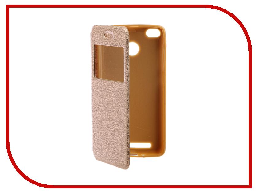 Аксессуар Чехол Xiaomi Redmi 3S Gecko Book Gold G-BOOK-XIAM-3S-GOLD аксессуар чехол xiaomi redmi note 3 gecko book black g book xiam n3 bl