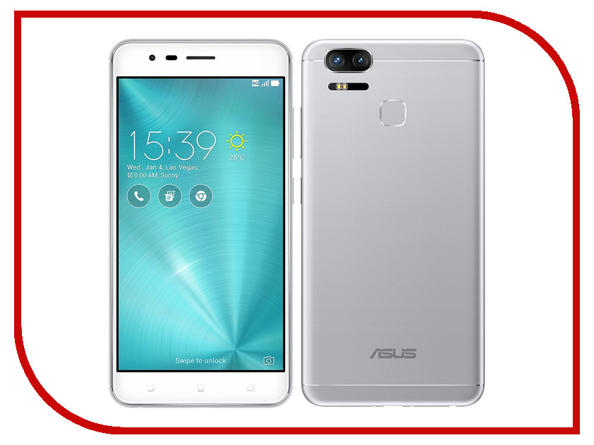 Сотовый телефон ASUS ZenFone 3 Zoom ZE553KL 64Gb Silver zenfone 3 zoom ze553kl цена