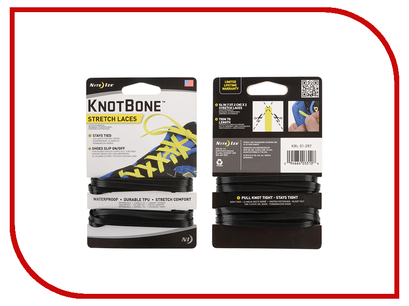 Шнурки спортивные Nite Ize KnotBone Stretch Laces Black KBL-01-2R7 non pro skate board7 layers 31 8 inch skate deck 79cm 19cm with 5 trucks wheels bearings skateboard complete set for new sk8ers