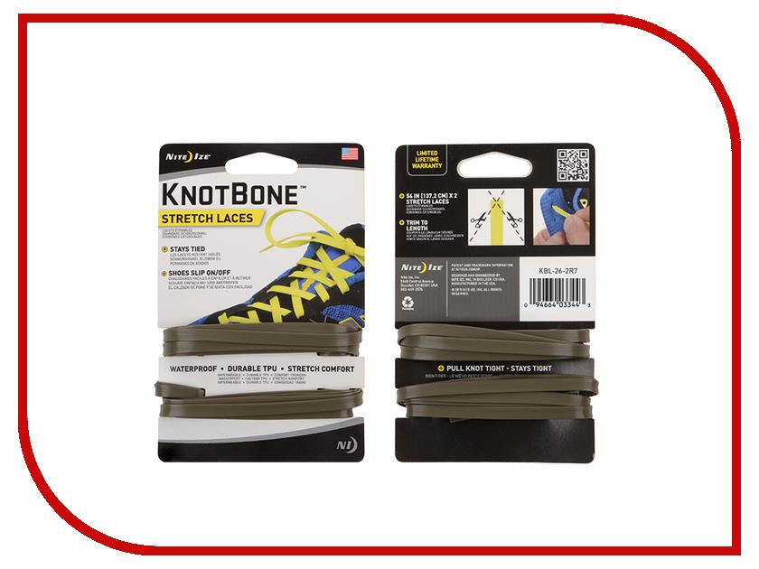 Гаджет Шнурки спортивные Nite Ize KnotBone Stretch Laces Green KBL-26-2R7