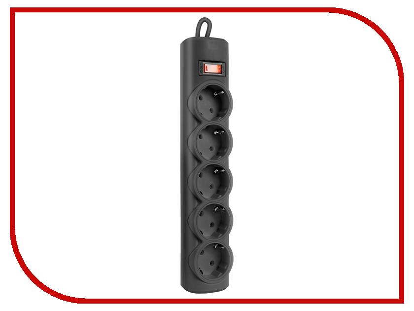 Сетевой фильтр Defender RFS 18 5 Sockets 1.8m Black 99514