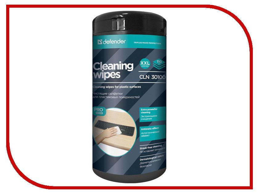 Аксессуар Салфетки чистящие Defender CLN 30100 Pro 30 100 салфетки для поверхностей defender cln 30103 pro 30103