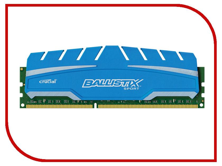Модуль памяти Crucial Ballistix Sport XT DDR3 UDIMM 1600MHz PC3-12800 CL9 - 4Gb BLS4G3D169DS3J crucial sodimm ddr4 4gb 2133мгц модуль оперативной памяти