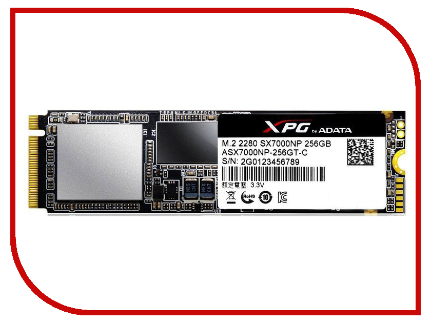 Жесткий диск 256Gb - A-Data XPG SX7000 ASX7000NP-256GT-C asx8000np 128gm c a data