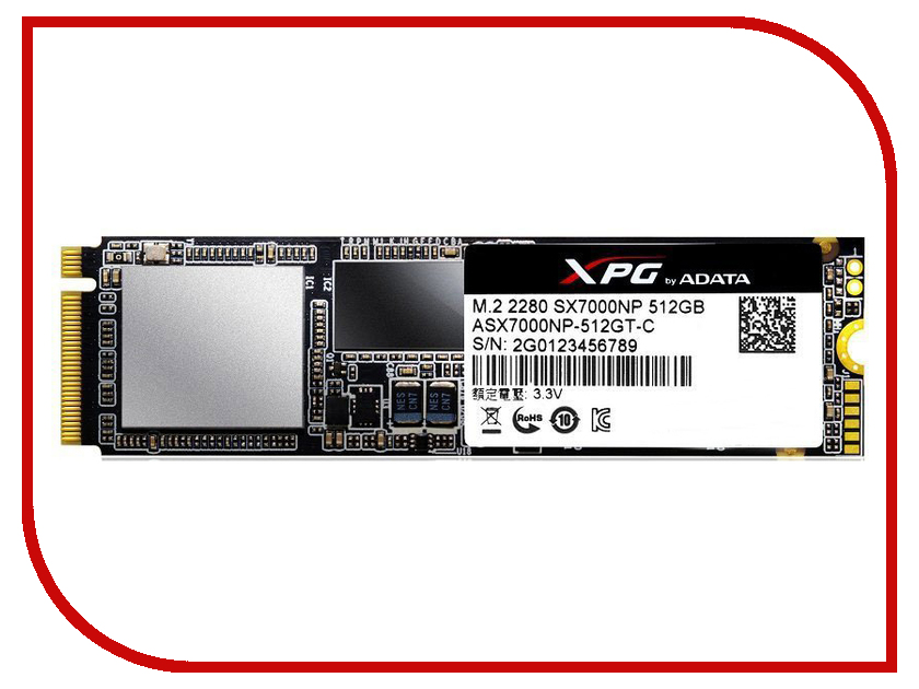 Жесткий диск 512Gb - A-Data XPG SX7000 ASX7000NP-512GT-C asx8000np 128gm c a data
