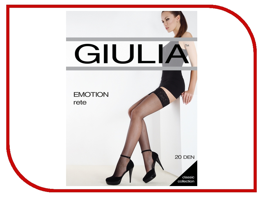 Чулки Giulia Emotion Rete размер 3/4 плотность 20 Den Daino чулки giulia emotion размер 1 2 плотность 20 den playa