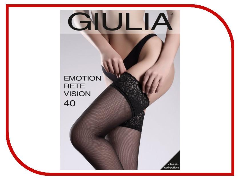 Чулки Giulia Emotion Vision Rete размер 3/4 плотность 40 Den Nero колготки giulia колготки фантазия модель rete vision 01