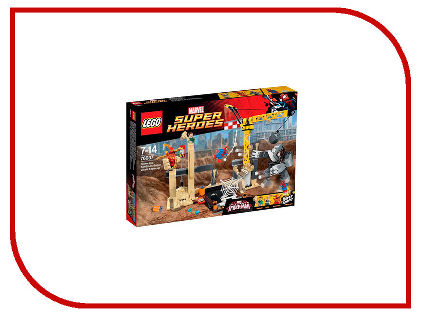 Конструктор Lego Super Heroes Носорог и Песочный человек против Супергероев 76037 конструктор lego super heroes росомаха против магнето 76073