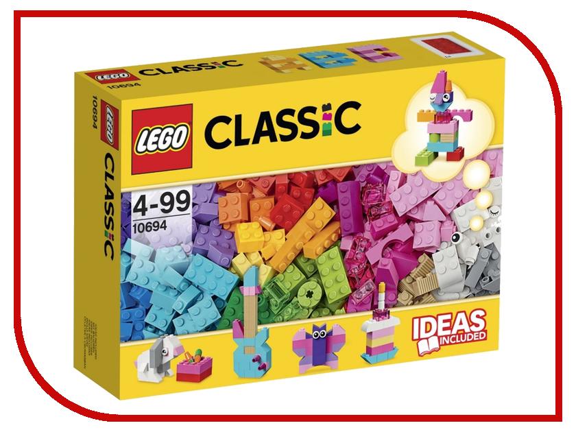 Конструктор Lego Classic Дополнение к набору для творчества 10694 lego classic конструктор дополнение к набору для творчества яркие цвета 10693