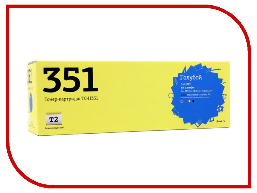 Картридж T2 TC-H351 Cyan для HP LaserJet Pro M176n MFP/M177fw MFP с чипом картридж t2 tc hcf401x cyan для hp clj pro m252n m252dw m274n m277n m277dw с чипом