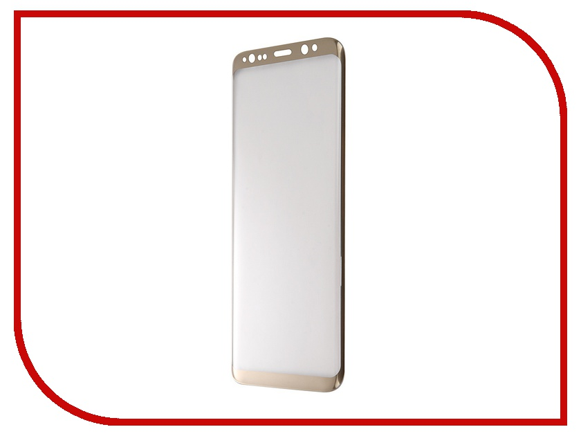 Аксессуар Защитное стекло Samsung Galaxy S8 BROSCO Full Screen Gold SS-S8-3D-GLASS-GOLD аксессуар защитное стекло samsung galaxy s8 smarterra full cover glass black sfcgs8bk