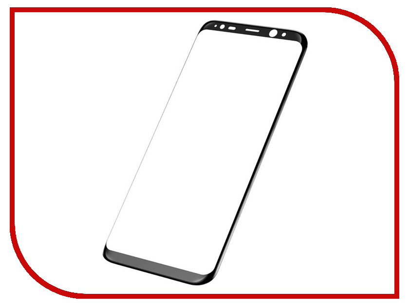 Аксессуар Защитное стекло Samsung Galaxy S8 Plus BROSCO Full Screen Black SS-S8P-3D-GLASS-BLACK аксессуар защитное стекло samsung galaxy s8 smarterra full cover glass black sfcgs8bk