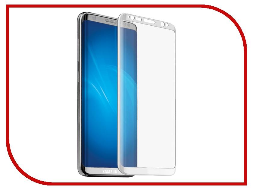 Аксессуар Защитное стекло Samsung Galaxy S8 Plus BROSCO White SS-S8P-3D-GLASS-WHITE аксессуар защитное стекло samsung galaxy s8 plus onext 3d gold 41266