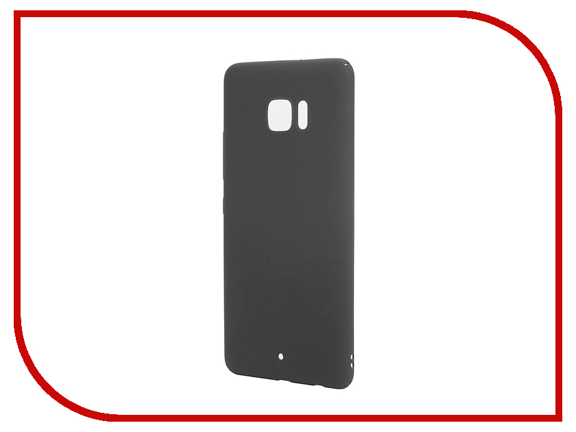 Аксессуар Чехол HTC U Ultra BROSCO SoftTouch 4side Black HTC-UU-4SIDE-ST-BLACK аксессуар чехол htc u ultra brosco silicone transparent htc uu tpu transparent