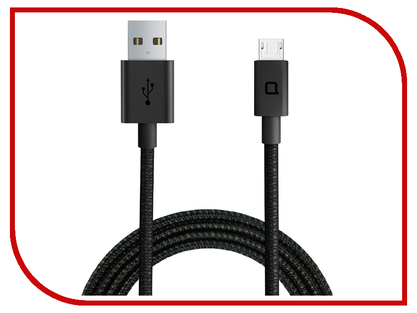 Аксессуар Nonda Micro to USB Cable Straight 1.2m ZUMCBK4SK 50cm 1 5ft short usb a male to dual micro usb cable data charging splitter cable usb to micro usb for xiaomi androidmobile cabl