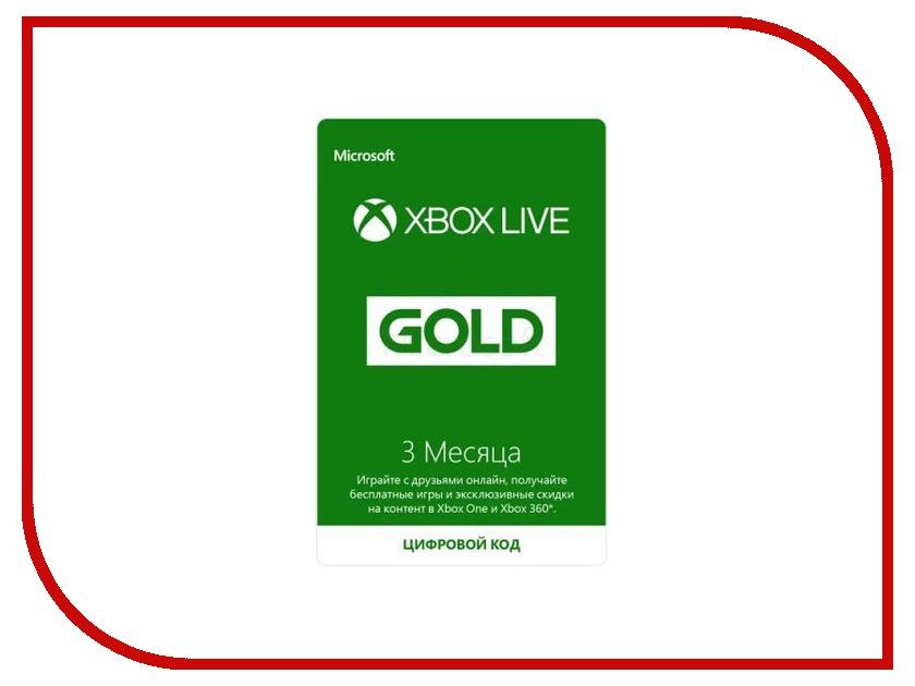 Карта подписки 3 месяца для Microsoft XBOX Live Gold 52K-00271