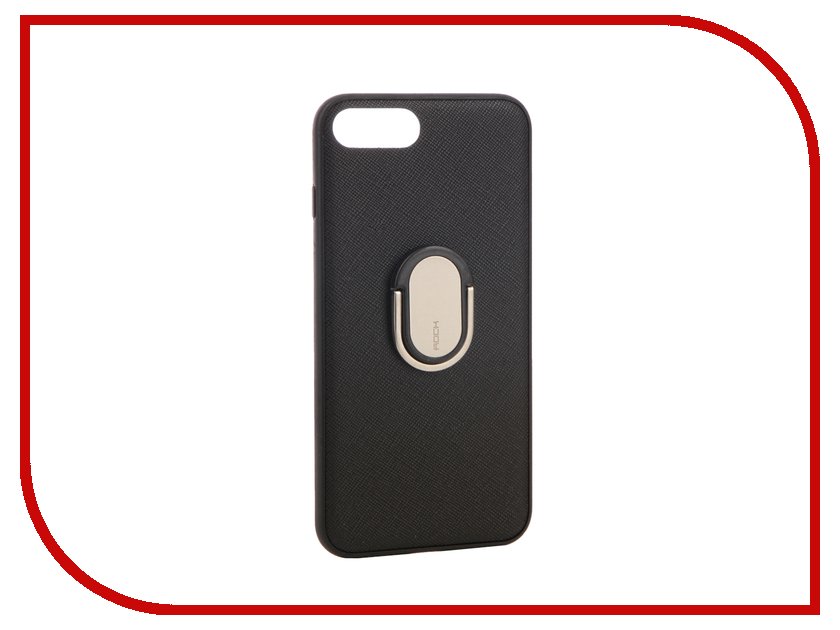 Аксессуар Чехол Rock Ring Holder Case M1 для iPhone 7 Plus Black 37568 аксессуар чехол rock elite series для iphone 7 plus black