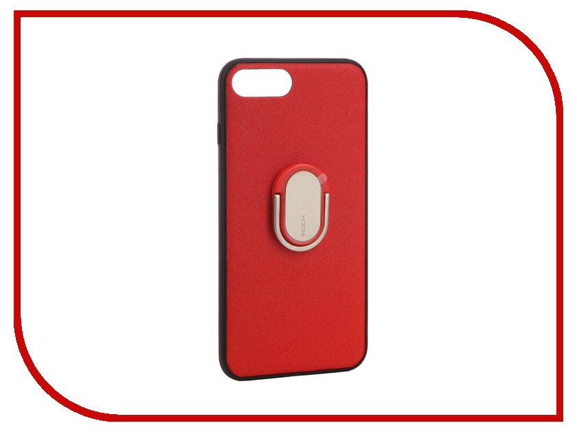 Аксессуар Чехол Rock Ring Holder Case M1 для iPhone 7 Plus Red 37575 аксессуар чехол rock touch series silicone для iphone 7 plus rpc1153 light blue