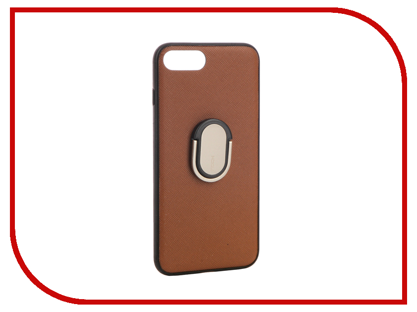 Аксессуар Чехол Rock Ring Holder Case M1 для iPhone 7 Plus Brown 37582 аксессуар чехол rock elite series для iphone 7 plus black